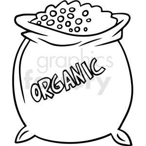 cartoon organic potting soil black white vector clipart