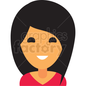 girl avatar icon vector clipart clipart. Royalty-free image # 411508