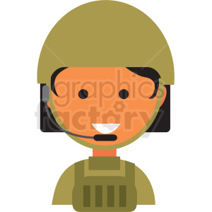 female soldier icon vector clipart clipart. Commercial use image # 411553
