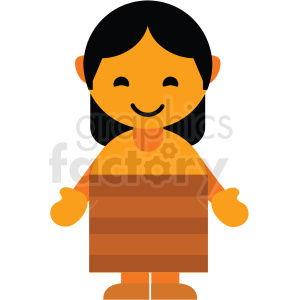 New Zealand woman character icon vector clipart