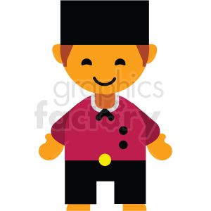 Holland man character icon vector clipart clipart. Commercial use image # 411595