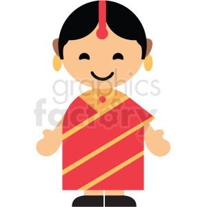 female India character icon vector clipart clipart. Royalty-free image # 411603