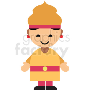 Thailand character icon vector clipart clipart. Commercial use image # 411605