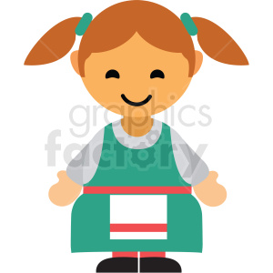 German female character icon vector clipart clipart. Commercial use image # 411609