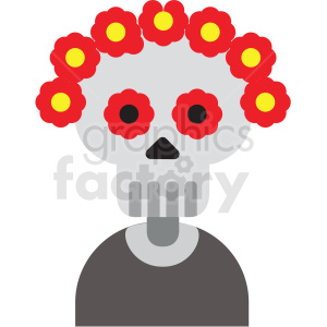 day of the dead skeleton vector clipart