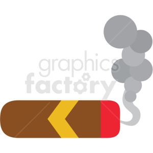 smoking cigar vector clipart