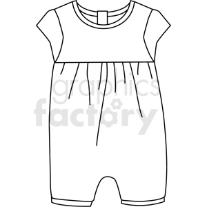 black white child jumpsuits vector clipart clipart. Commercial use image # 411682