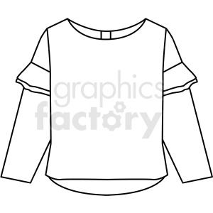 black white shirt icon vector clipart clipart. Royalty-free image # 411693