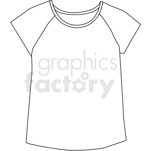 black white short sleeve shirt vector clipart clipart. Royalty-free image # 411695