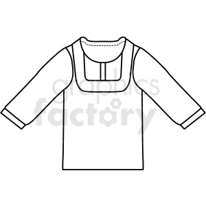 black white sweatshirt icon vector clipart clipart. Royalty-free image # 411706