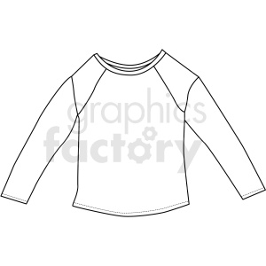 black white long sleeve shirt vector clipart clipart. Royalty-free image # 411709