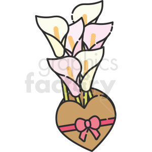 lily bouquet vector clipart