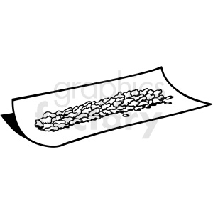 black and white cartoon marijuana rolling paper vector clipart clipart. Royalty-free image # 411812