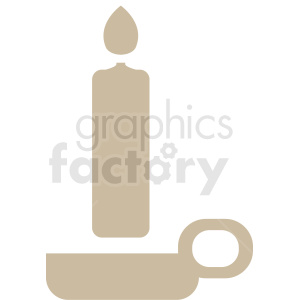 candle vector silhouette clipart clipart. Royalty-free image # 411878