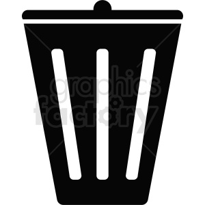 black white trash icon design clipart. Royalty-free image # 411886