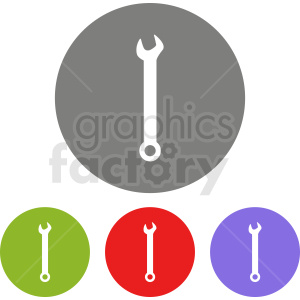 wrench icon set clipart. Royalty-free image # 411889