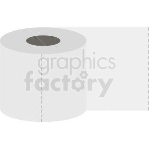 toilet paper vector graphic clipart. Royalty-free image # 411908