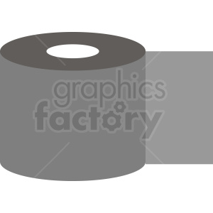gray toilet paper clipart. Commercial use image # 411960