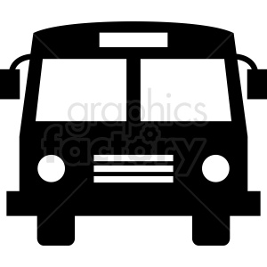 cartoon front of bus icon clipart. Royalty-free image # 412028