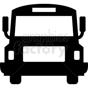 front of bus icon design clipart. Royalty-free image # 412032