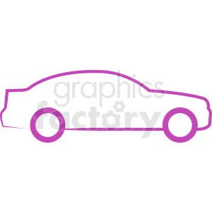 purple car outline clipart