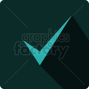 check mark vector icon clipart. Royalty-free image # 412076