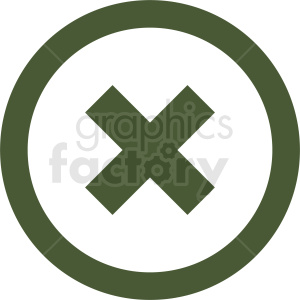 close icon vector clipart. Commercial use image # 412080