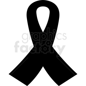black ribbon vector graphic clipart. Commercial use image # 412088