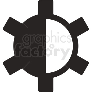 contrast vector icon graphic clipart. Commercial use image # 412095