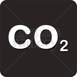 co2 square icon vector clipart. Royalty-free image # 412109
