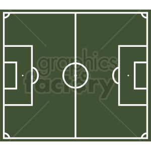 soccer sport field vector clipart. Commercial use image # 412156