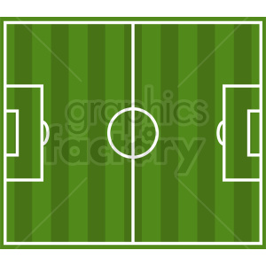 soccer field vector graphic clipart. Commercial use image # 412158