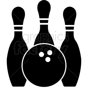 bowling pins vector graphics clipart. Commercial use image # 412160