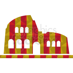 Colosseum vector graphic clipart. Royalty-free image # 412174
