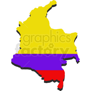 Columbia flag vector design clipart. Royalty-free image # 412189