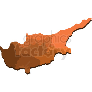 cipro map regions shaded orange design clipart. Royalty-free image # 412202