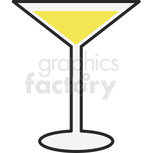 simple martini clipart clipart. Royalty-free image # 412249