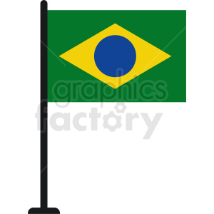 brazil flag icon design clipart. Commercial use image # 412316