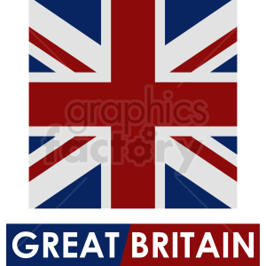 Great Britain square flag icon clipart. Royalty-free image # 412336