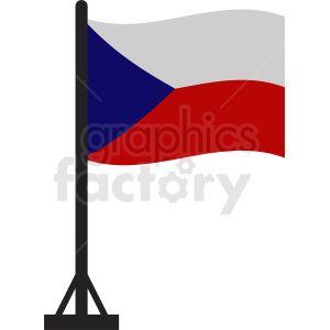 Czech Republic flag icon clipart. Royalty-free image # 412343
