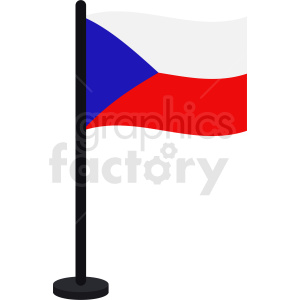 Czech Republic flag vector clipart clipart. Royalty-free image # 412345