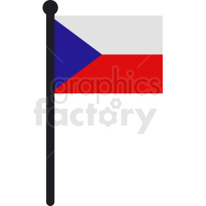 Czechia flag vector icon clipart. Commercial use image # 412349