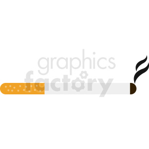 cigarette smoking vector clipart clipart. Commercial use image # 412367
