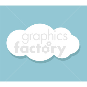 cloud clipart on square background clipart. Royalty-free icon # 412373