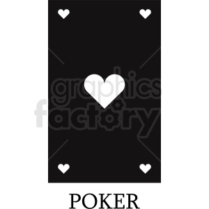 blank hearts card vector icon clipart. Royalty-free image # 412383