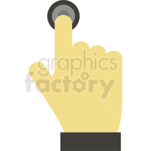 hand pushing button clipart clipart. Royalty-free image # 412385