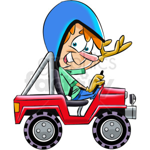 cartoon off road jeep clipart. Commercial use image # 412401