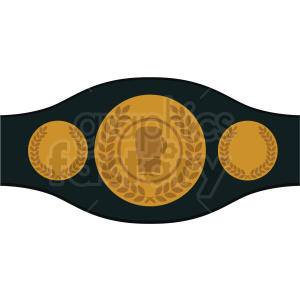 boxing championship belt vector clipart clipart. Commercial use image # 412507