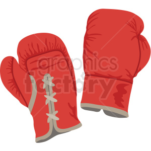 red boxing gloves vector clipart clipart. Commercial use image # 412517