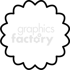 scalloped outlined circle vector clipart design clipart. Commercial use image # 412587